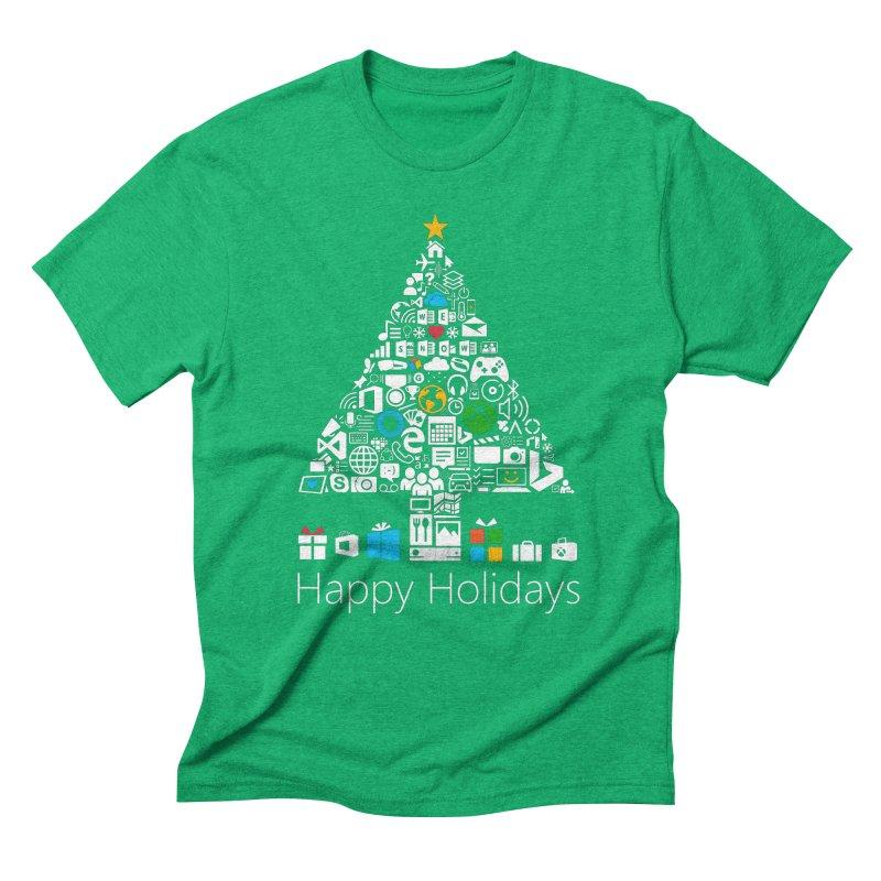 Microsoft Christmas Men's Triblend T-shirt by immerzion's t-shirt designs
