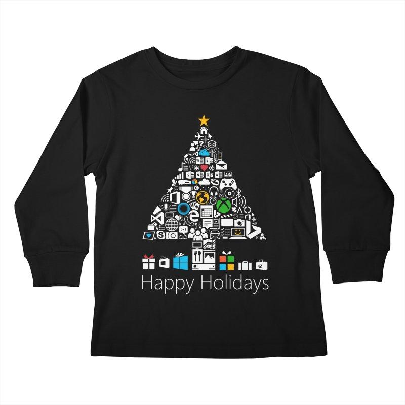 Microsoft Christmas Kids Longsleeve T-Shirt by immerzion's t-shirt designs