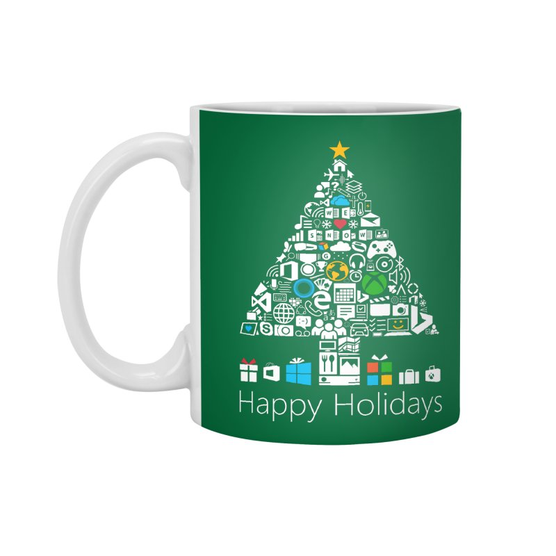 Microsoft Christmas Accessories Mug by immerzion's t-shirt designs