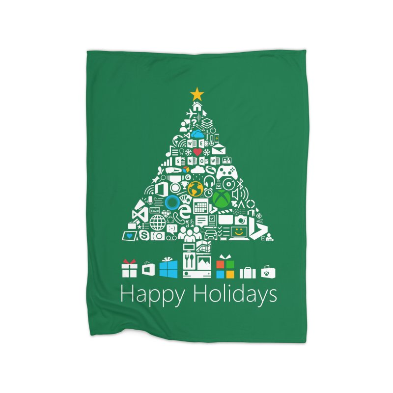 Microsoft Christmas Home Fleece Blanket Blanket by immerzion's t-shirt designs