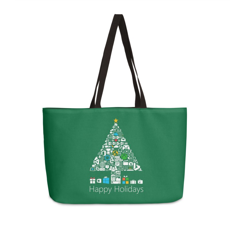 Microsoft Christmas Accessories Weekender Bag Bag by immerzion's t-shirt designs