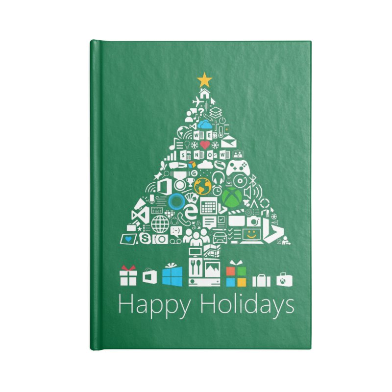 Microsoft Christmas Accessories Lined Journal Notebook by immerzion's t-shirt designs