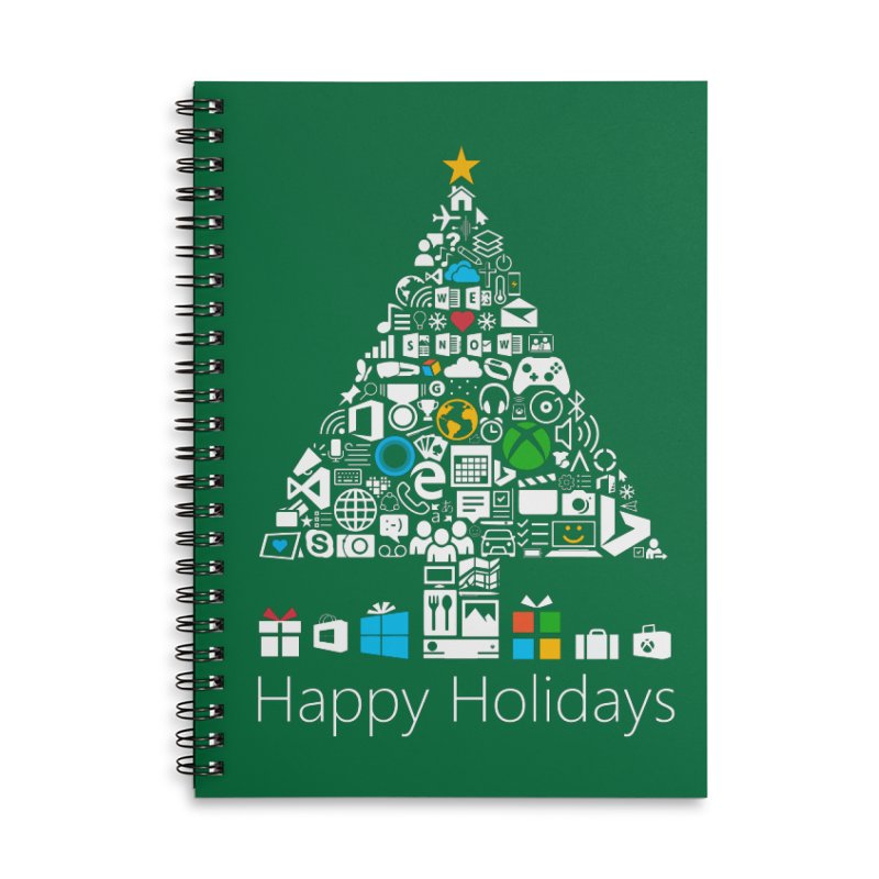 Microsoft Christmas Accessories Lined Spiral Notebook by immerzion's t-shirt designs