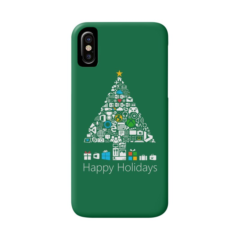 Microsoft Christmas Accessories Phone Case by immerzion's t-shirt designs