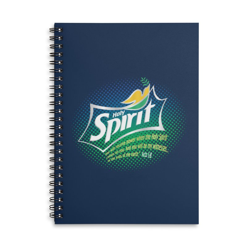 Holy Sprite Accessories Lined Spiral Notebook by immerzion's t-shirt designs