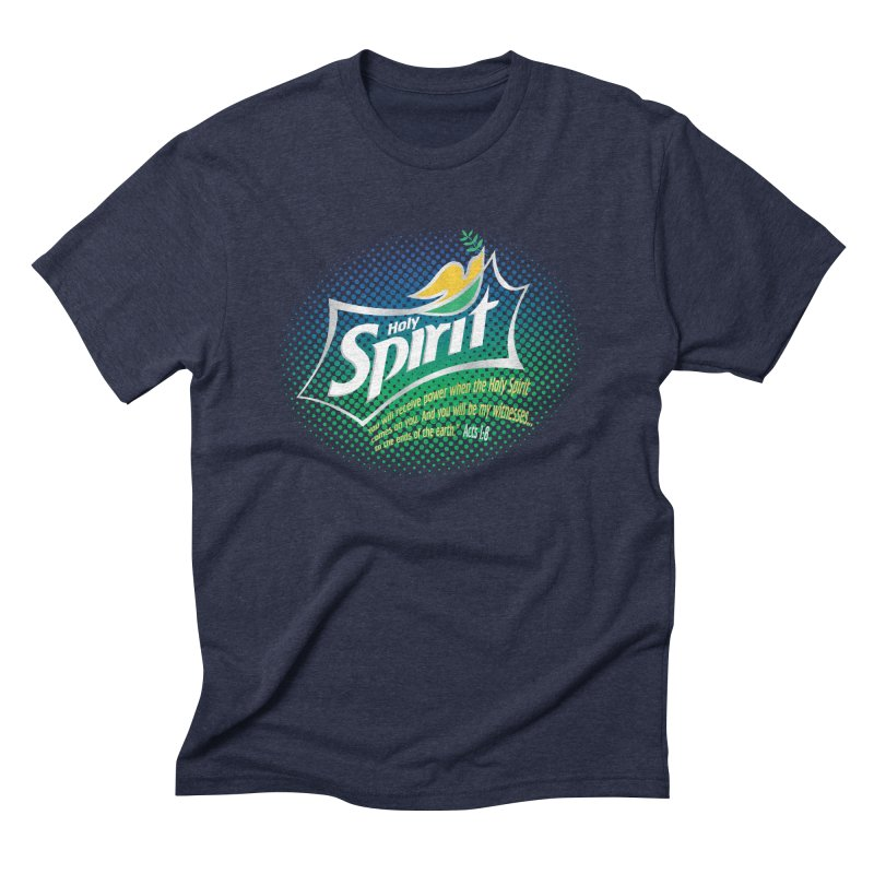 Holy Sprite in Men's Triblend T-shirt Navy by immerzion's t-shirt designs
