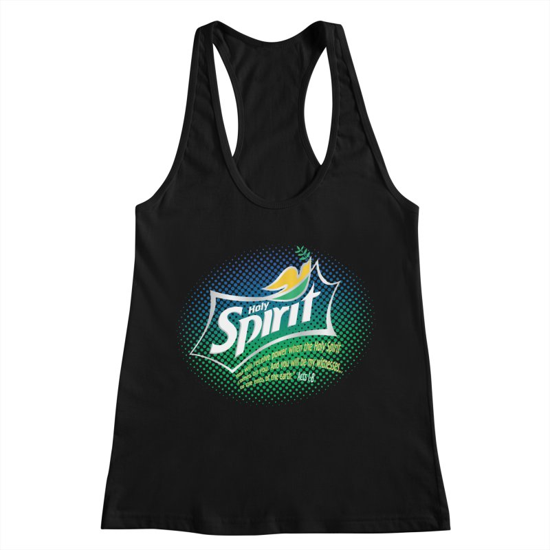Holy Sprite Women's Racerback Tank by immerzion's t-shirt designs