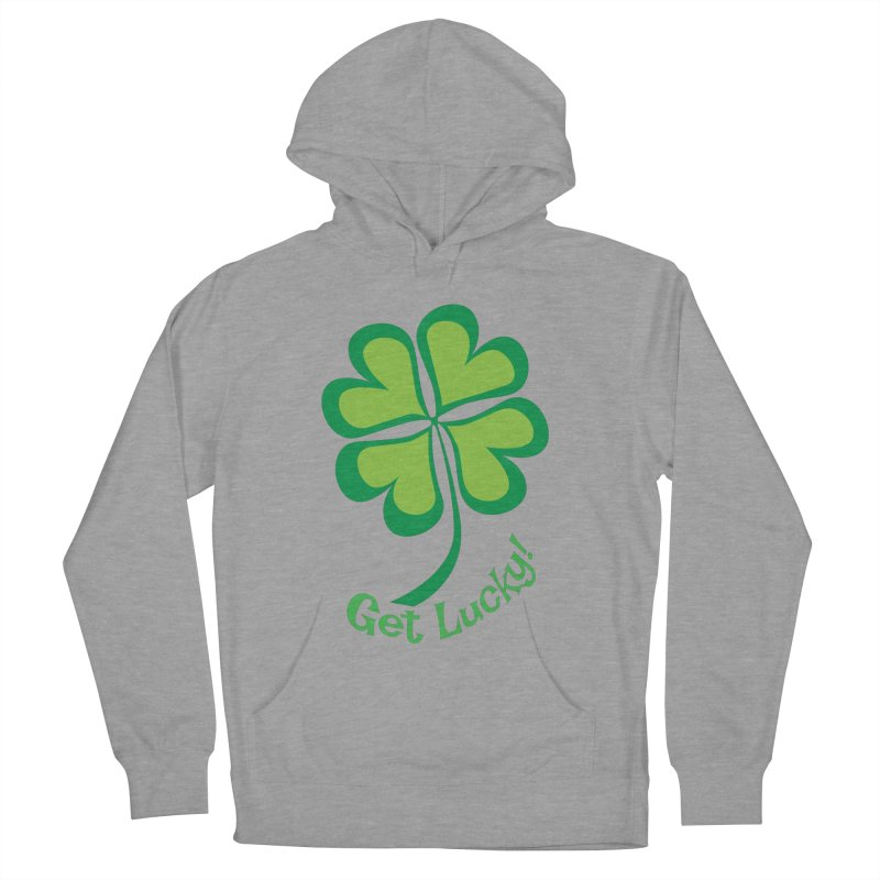 Get Lucky! Men's French Terry Pullover Hoody by immerzion's t-shirt designs