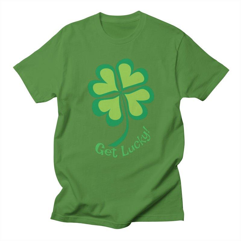 Get Lucky! Men's T-shirt by immerzion's t-shirt designs
