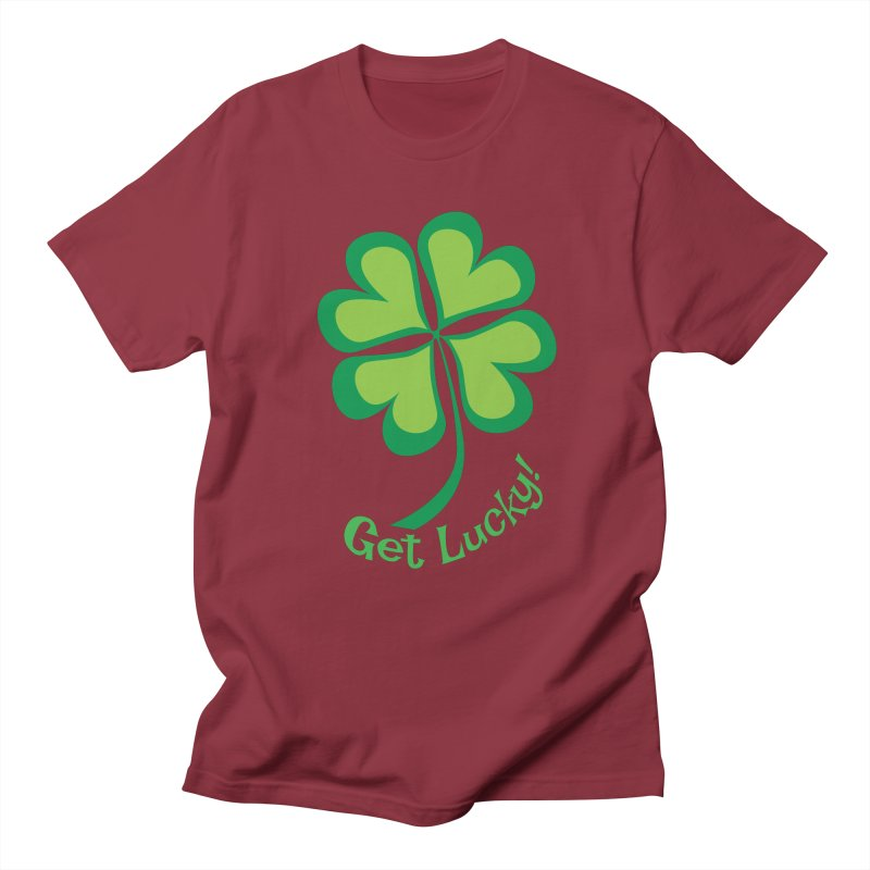 Get Lucky! Men's T-Shirt by immerzion's t-shirt designs