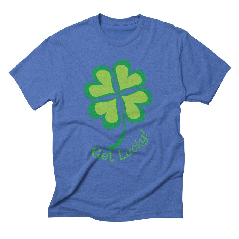 Get Lucky! Men's Triblend T-Shirt by immerzion's t-shirt designs