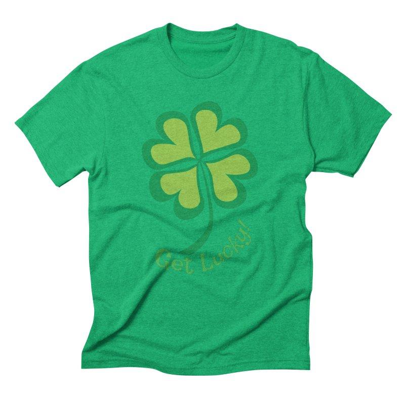 Get Lucky! Men's Triblend T-Shirt by immerzion's t-shirt designs