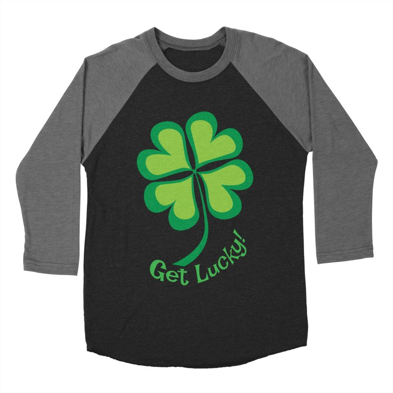 Get Lucky! Men's Baseball Triblend Longsleeve T-Shirt by immerzion's t-shirt designs