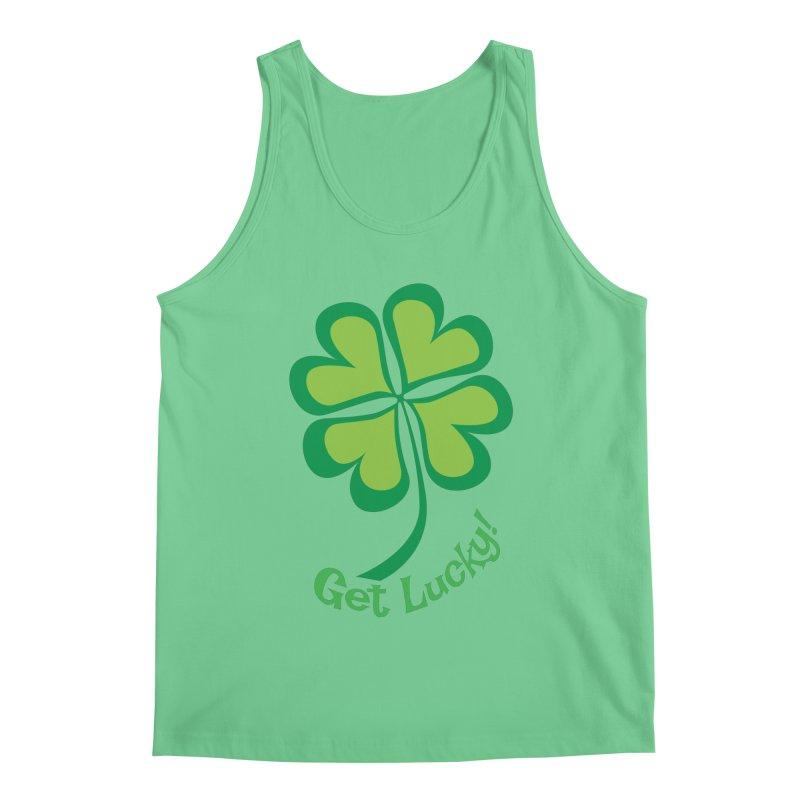 Get Lucky! Men's Regular Tank by immerzion's t-shirt designs