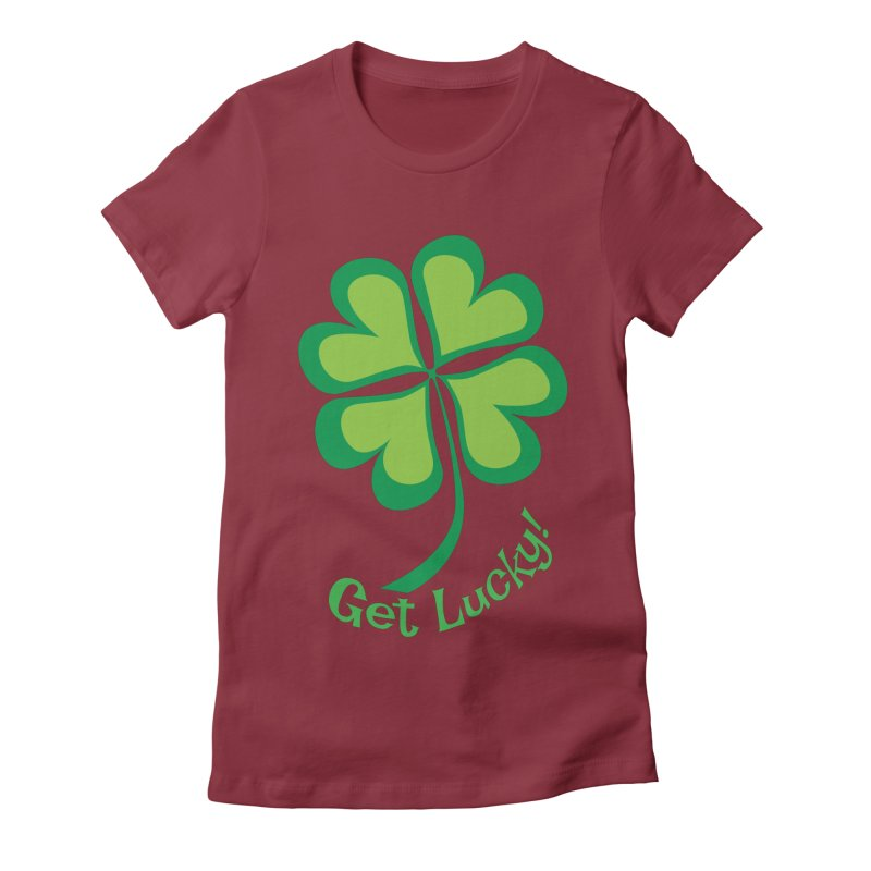 Get Lucky! Women's Fitted T-Shirt by immerzion's t-shirt designs