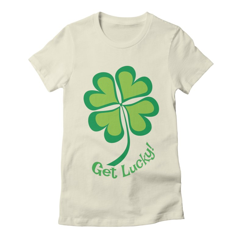 Get Lucky! Women's Fitted T-Shirt by immerzion's t-shirt designs