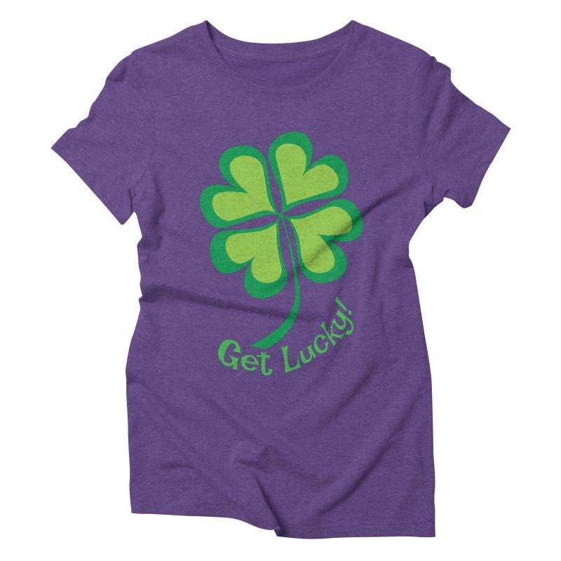 Get Lucky! Women's Triblend T-shirt by immerzion's t-shirt designs