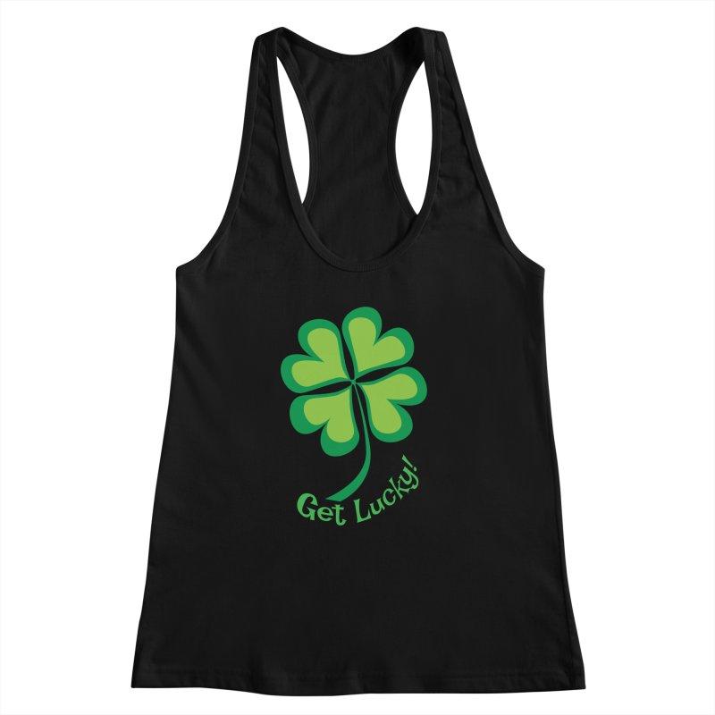 Get Lucky! Women's Racerback Tank by immerzion's t-shirt designs