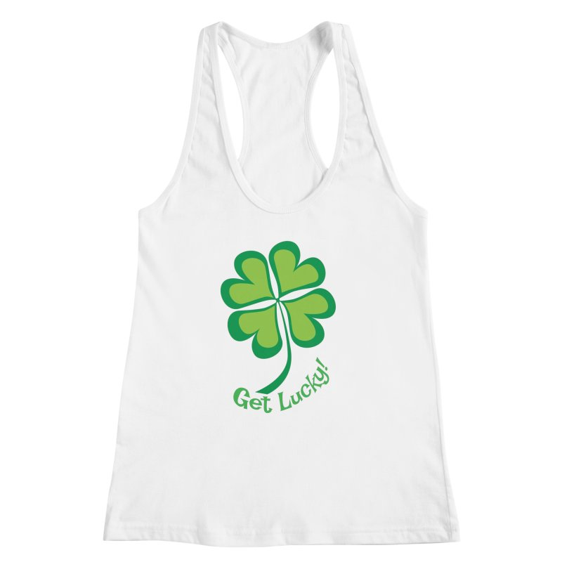 Get Lucky! Women's Racerback Tank by immerzion's t-shirt designs
