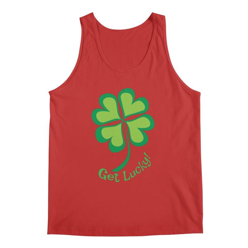 Get Lucky! Men's Tank by immerzion's t-shirt designs