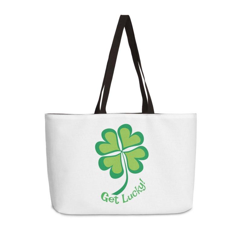 Get Lucky! Accessories Weekender Bag Bag by immerzion's t-shirt designs