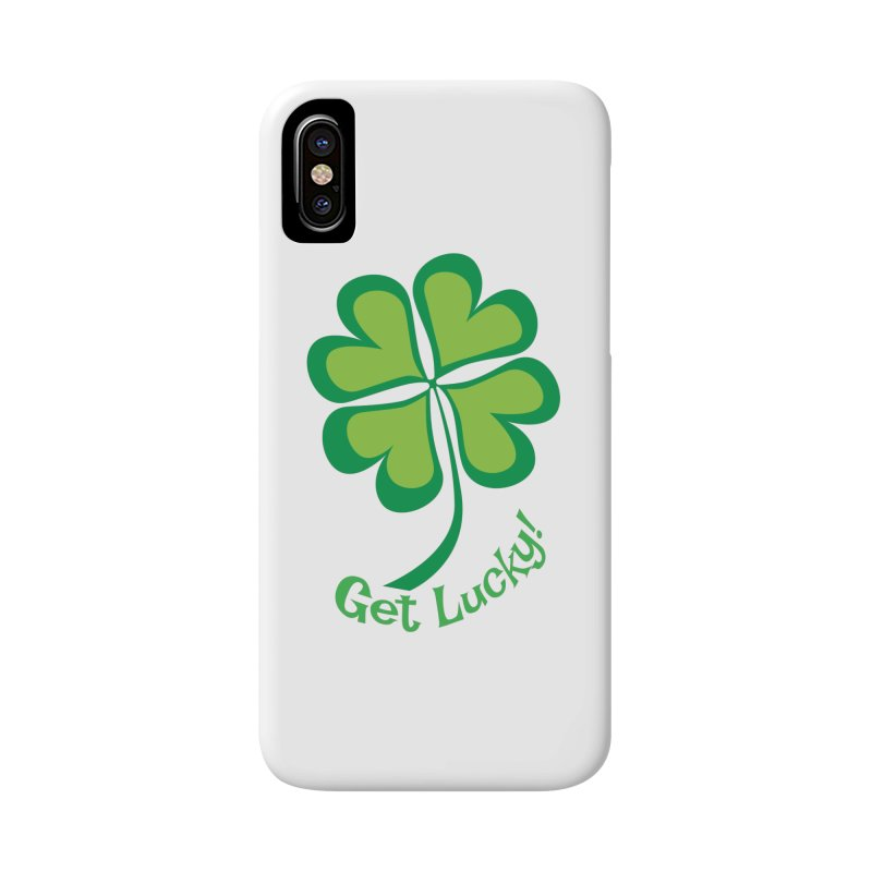 Get Lucky! Accessories Phone Case by immerzion's t-shirt designs