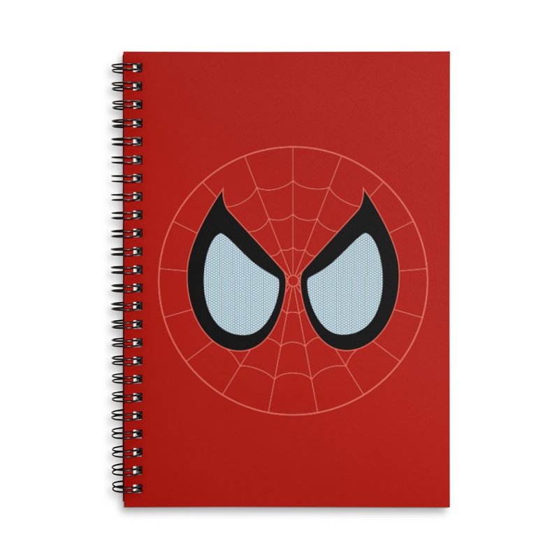 Spidey Accessories Lined Spiral Notebook by immerzion's t-shirt designs