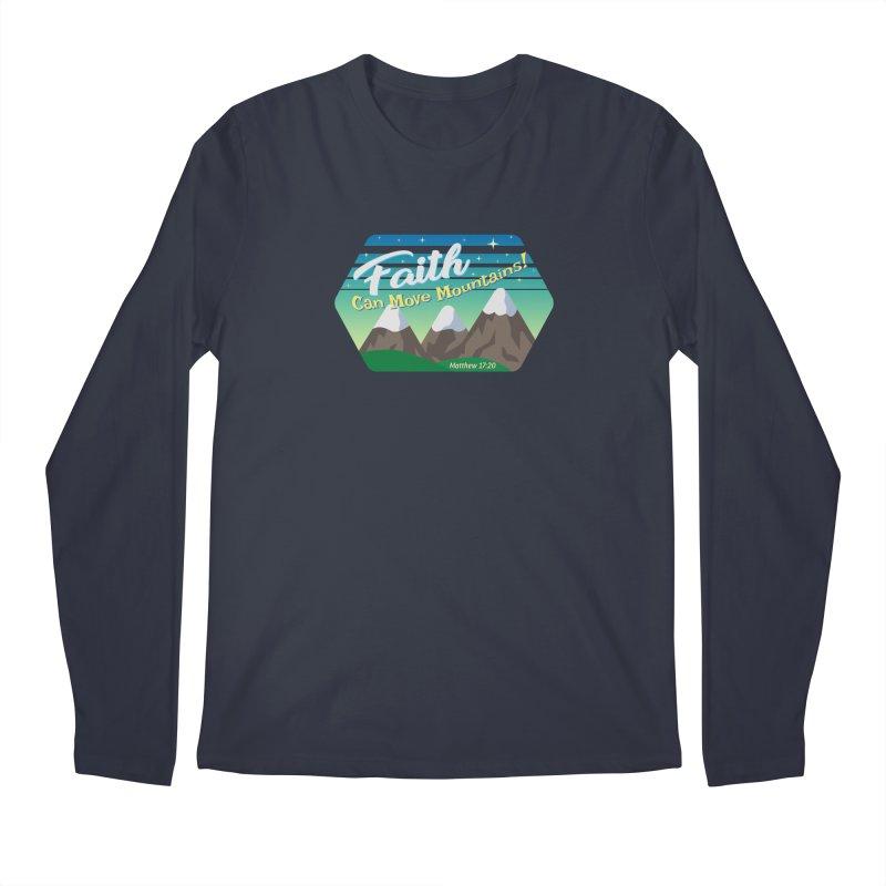 Faith Can Move Mountains Men's Regular Longsleeve T-Shirt by immerzion's t-shirt designs