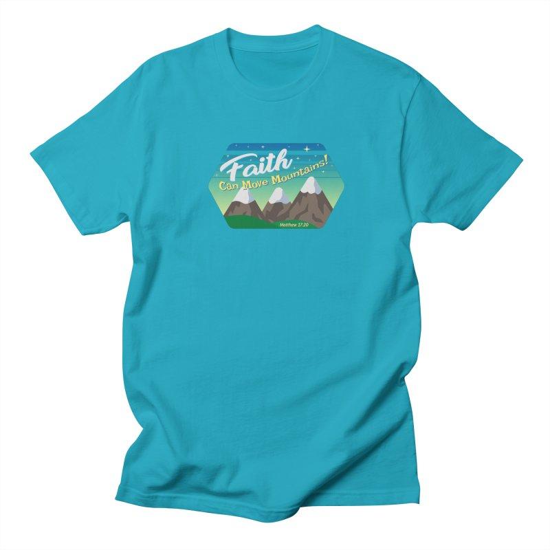 Faith Can Move Mountains Men's Regular T-Shirt by immerzion's t-shirt designs