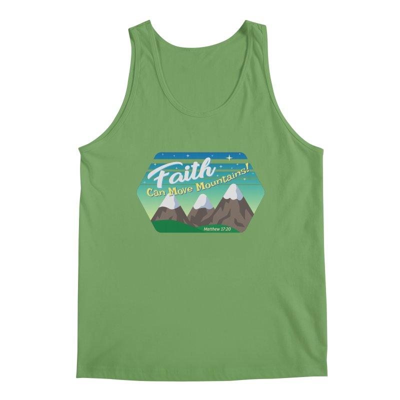 Faith Can Move Mountains Men's Tank by immerzion's t-shirt designs