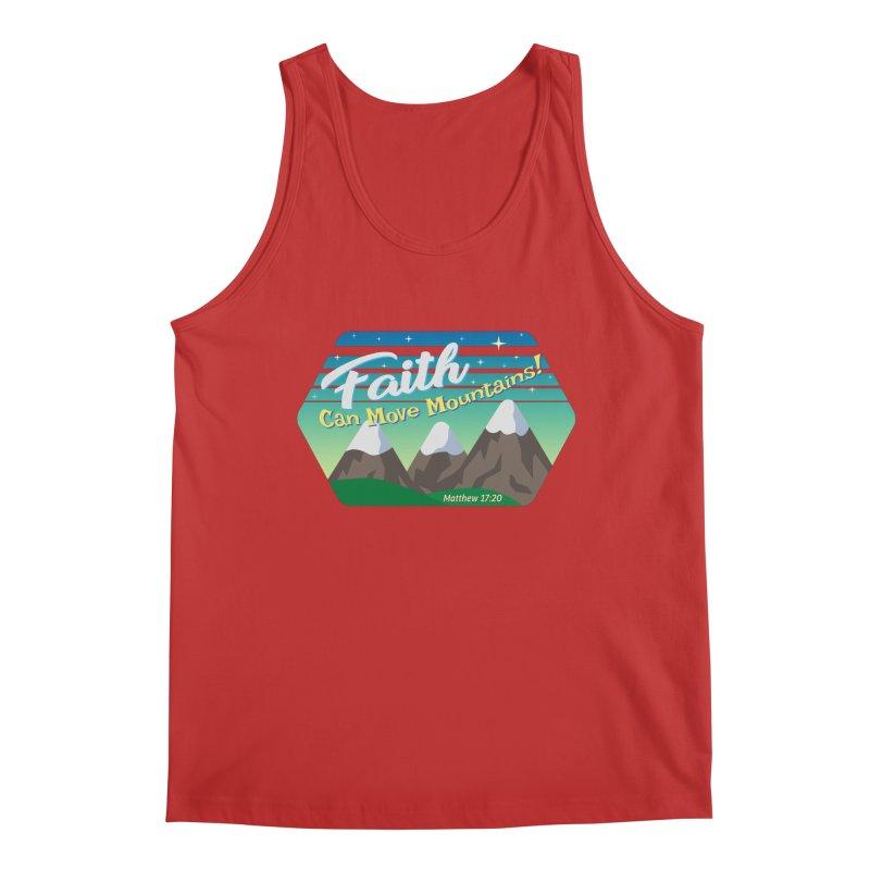 Faith Can Move Mountains Men's Regular Tank by immerzion's t-shirt designs