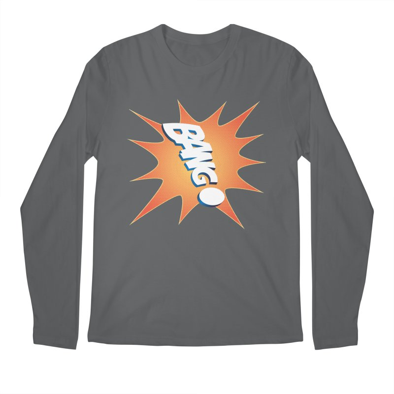 Bang! Men's Regular Longsleeve T-Shirt by immerzion's t-shirt designs