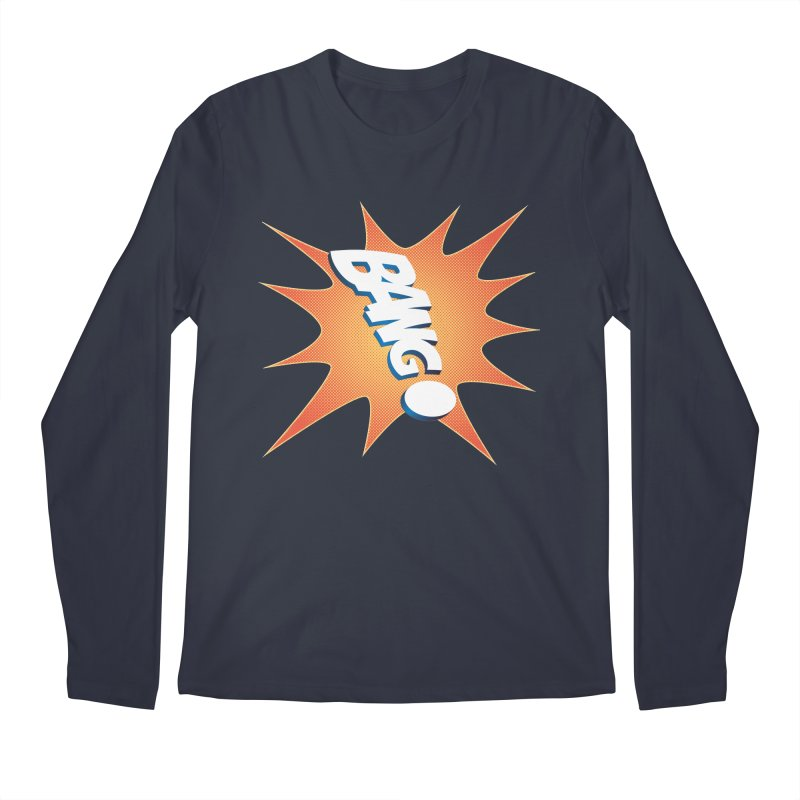 Bang! Men's Regular Longsleeve T-Shirt by immerzion's t-shirt designs