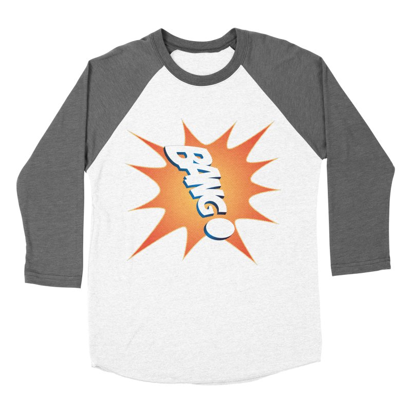 Bang! Men's Baseball Triblend Longsleeve T-Shirt by immerzion's t-shirt designs