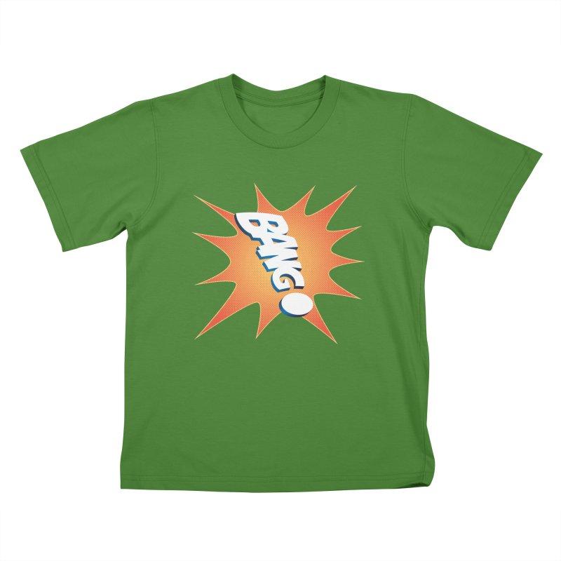 Bang! Kids T-Shirt by immerzion's t-shirt designs