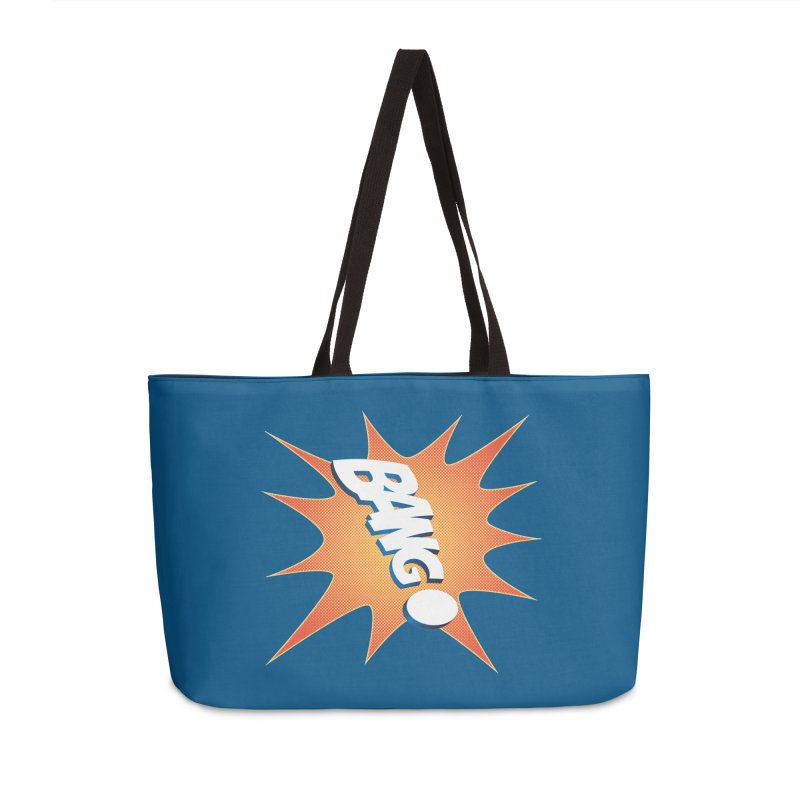 Bang! Accessories Weekender Bag Bag by immerzion's t-shirt designs