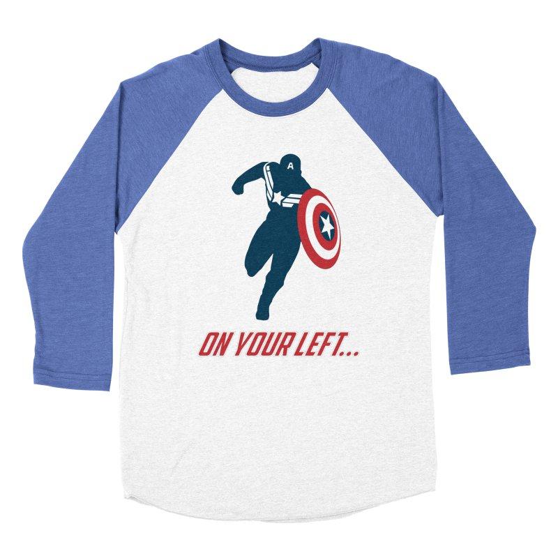 On Your Left Men's Baseball Triblend T-Shirt by immerzion's t-shirt designs