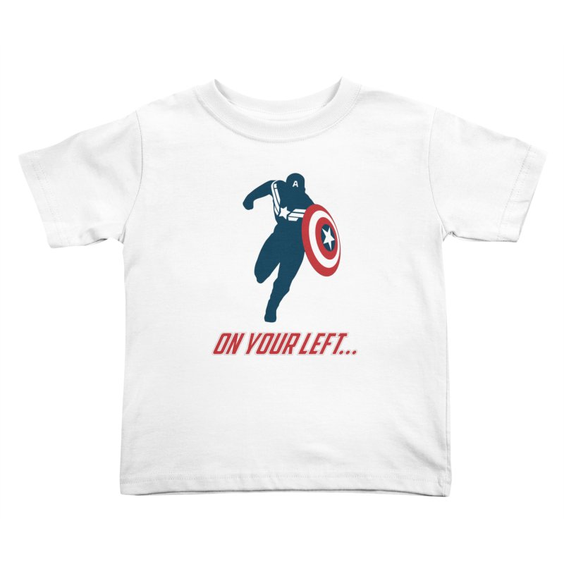 On Your Left Kids Toddler T-Shirt by immerzion's t-shirt designs