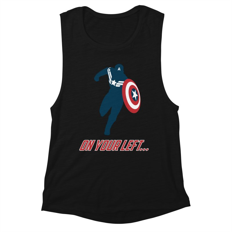 On Your Left Women's Muscle Tank by immerzion's t-shirt designs