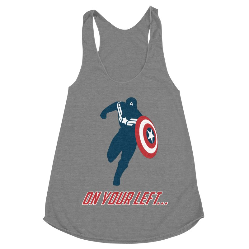 On Your Left Women's Racerback Triblend Tank by immerzion's t-shirt designs