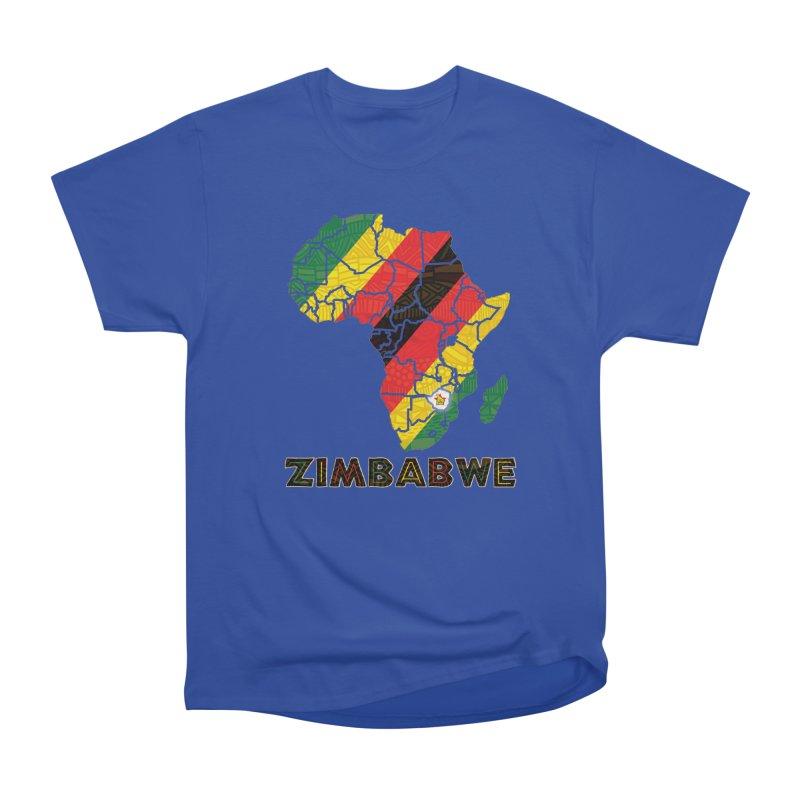 Zimbabwe Women's Heavyweight Unisex T-Shirt by immerzion's t-shirt designs