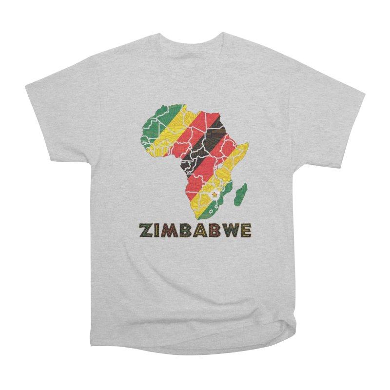 Zimbabwe Men's Heavyweight T-Shirt by immerzion's t-shirt designs