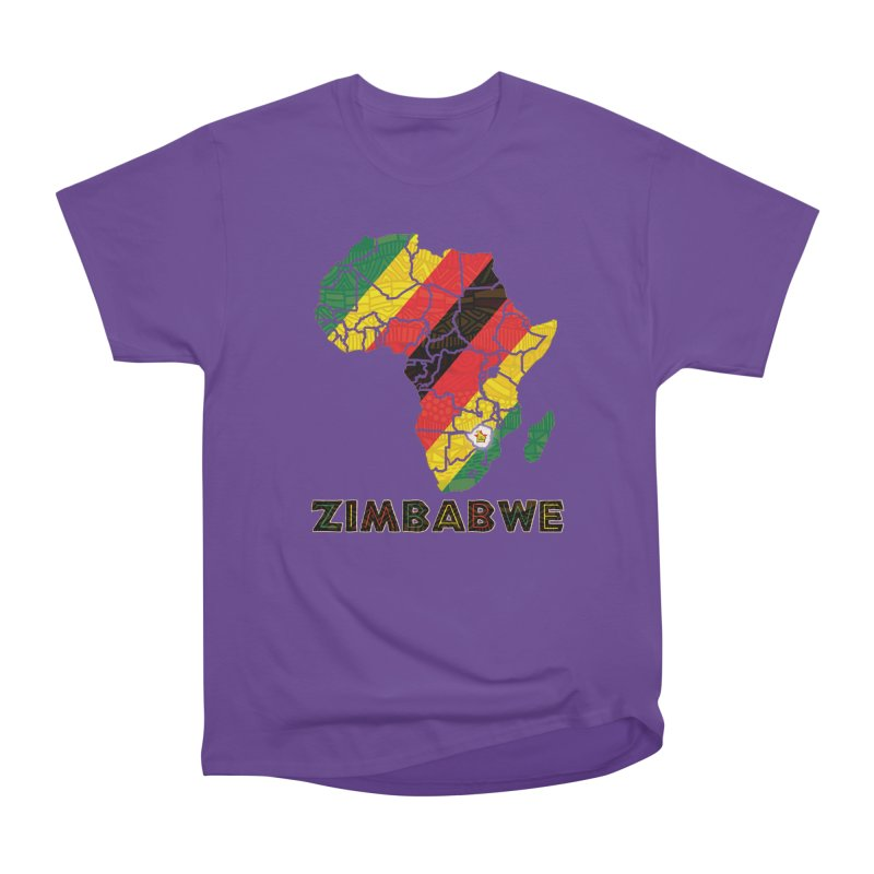 Zimbabwe Men's Heavyweight T-Shirt by immerzion's t-shirt designs