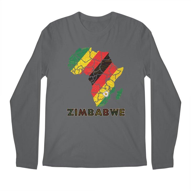 Zimbabwe Men's Regular Longsleeve T-Shirt by immerzion's t-shirt designs