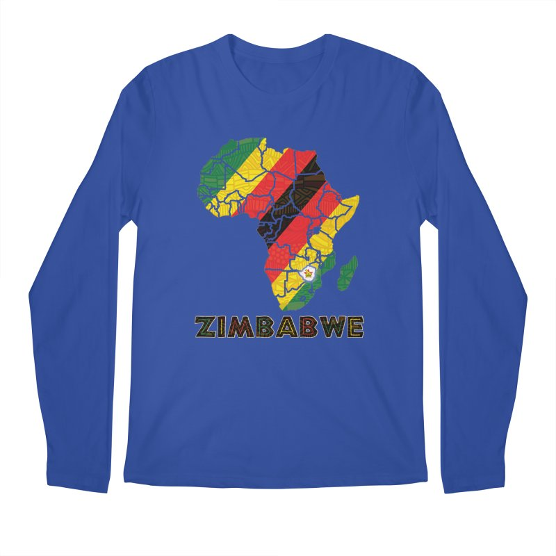 Zimbabwe Men's Regular Longsleeve T-Shirt by immerzion's t-shirt designs