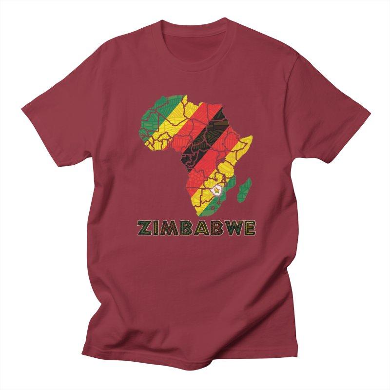 Zimbabwe Men's Regular T-Shirt by immerzion's t-shirt designs