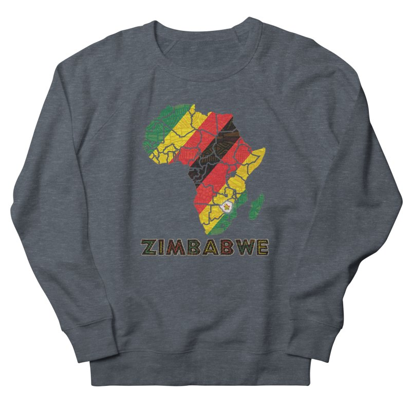 Zimbabwe Men's French Terry Sweatshirt by immerzion's t-shirt designs