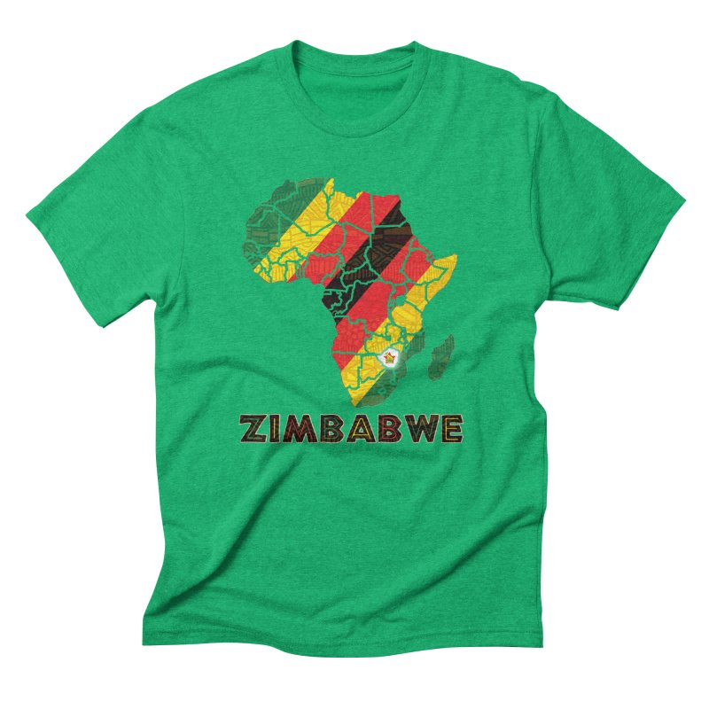 Zimbabwe Men's Triblend T-Shirt by immerzion's t-shirt designs