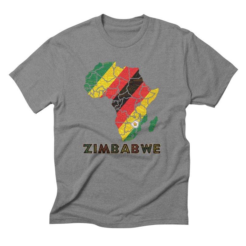 Zimbabwe Men's Triblend T-Shirt by immerzion's t-shirt designs