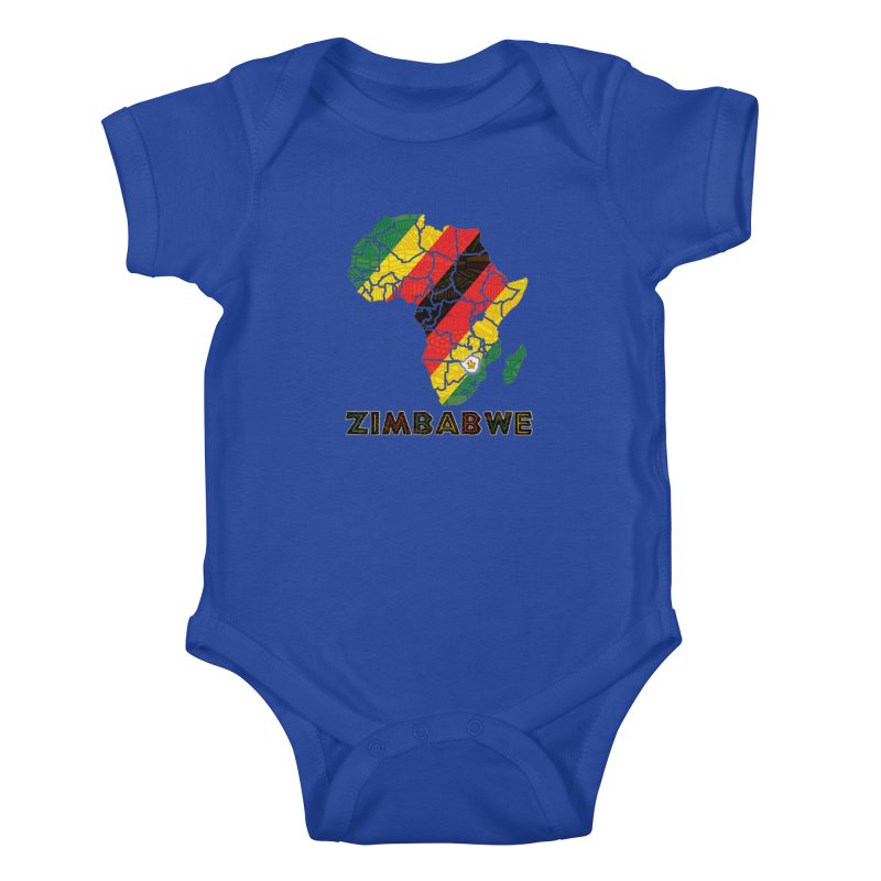 Zimbabwe Kids Baby Bodysuit by immerzion's t-shirt designs